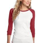 Junior Ladies 3/4 Sleeve Perfect Weight Raglan Tee