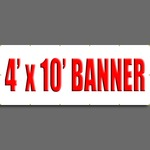 4' X 10' Full Color Banner