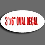 "3"" X 6"" Oval Decal"