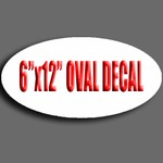 "6"" X 12"" Oval Decal"
