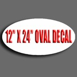 "12"" X 24"" Oval Decal"